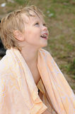 Child in towel Royalty Free Stock Image