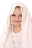 Child at towel is smiling Royalty Free Stock Images