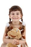 Child with a toy. Royalty Free Stock Image