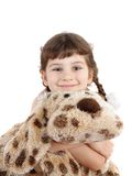 Child with  toy. Stock Photos