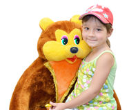 The Child and toy Royalty Free Stock Photography