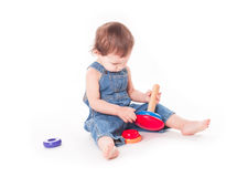 Child with a toy Royalty Free Stock Image