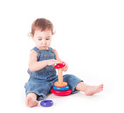 Child with a toy Stock Photo