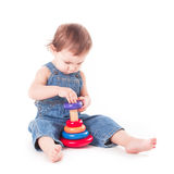 Child with a toy Royalty Free Stock Photography