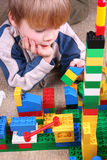 Child with toy blocks Stock Photo