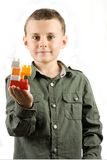 Child with toy building blocks Royalty Free Stock Images