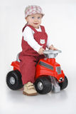 Child and toy - car Royalty Free Stock Photo
