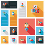 Child toy flat ui with long shadow,eps10 Royalty Free Stock Photo