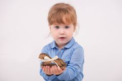 Child with the toy horse Stock Images