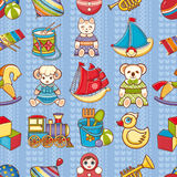 Child toy seamless pattern. Design element Royalty Free Stock Images