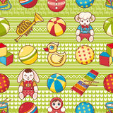 Child toy seamless pattern. Design element Royalty Free Stock Photography