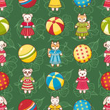 Child toy seamless pattern. Design element Stock Photos