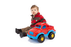 Child and toy Stock Photo