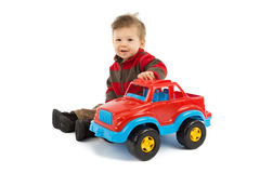 Child and toy Royalty Free Stock Images