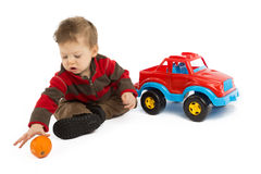 Child and toy Stock Image