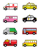 Child Toy Vehicles. Cartoon vector illustration of Child Toy Vehicles Royalty Free Stock Image