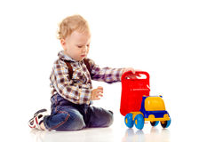 Child with toy stock images
