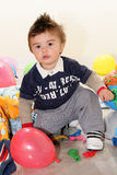 Child with toys Royalty Free Stock Images