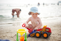 Child with toys Royalty Free Stock Photos