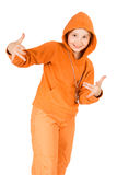 A child in a track suit Stock Photography