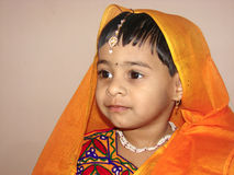 Child in traditional dress Royalty Free Stock Images