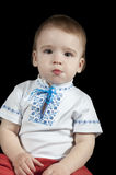 Child in a traditional Ukrainian national costume Stock Image
