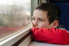 Child on train Royalty Free Stock Photos