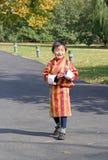 Child at the Trashi Chhoe Dzong, Thimphu, Bhutan Stock Photography