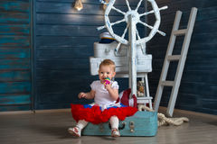 A child traveling Royalty Free Stock Photo