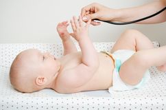 Child treated by a doctor Stock Photos