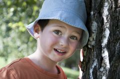 Child and tree Royalty Free Stock Images