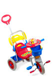 Child Tricycle. Multicolored child trike isolated over white background Stock Photos
