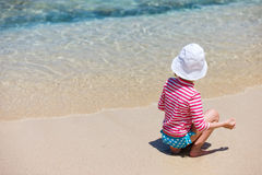 Child on a tropical vacation Royalty Free Stock Photos
