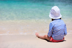 Child on a tropical vacation Royalty Free Stock Images