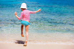 Child on a tropical vacation Royalty Free Stock Photography