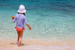 Child on a tropical vacation Stock Image