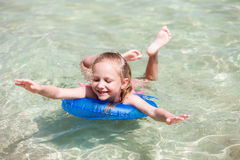 Child on a tropical vacation Royalty Free Stock Photo
