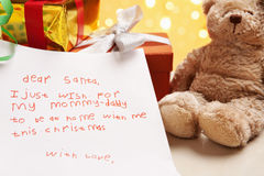 Child true wish on Christmas Stock Photography