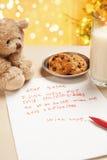 Child true wish on Christmas Stock Image
