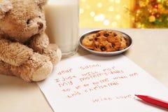 Child true wish on Christmas Stock Photography
