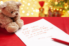 Child true wish on Christmas Royalty Free Stock Images