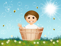 Child in the tub Royalty Free Stock Photos