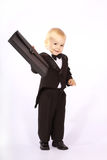 Child in a tuxedo Stock Images