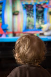 Child and TV Stock Image