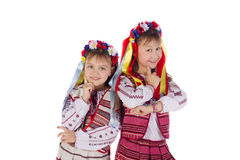 A child, two girls in a bright dress. Stock Images