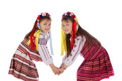 A child, two girls in a bright dress. Stock Photos