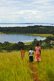Child in Uganda. Children walk on Ssese Islands in Lake Victoria Uganda Stock Image