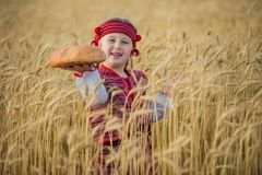 Child in Ukrainian national costume Royalty Free Stock Photography