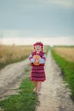 Child in Ukrainian national costume Stock Images