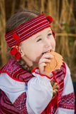 Child in Ukrainian national costume Stock Photo